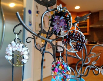 "Custom Ooak Tree of Life 2"" handmade pendant necklace jewelry"