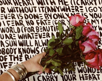I carry your heart with me - i carry it in my heart - or - Say What You Want To Say-The price is for ONE -up to 20 lowercase letters - simaG