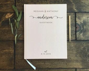 Wedding Guest book. Custom Blush Pink Wedding Book. Custom Wedding Guest book. Wedding Notebook. Wedding Gift. Wedding Memory Book