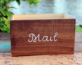 Mail Holder - Rustic Mail Storage - Rustic Mail Holder - Rustic Caddy - Mail Organizer - Entryway Organizer - Wood Mail Organizer - Mail Box