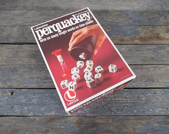Perquackey, Educational Games, Word Game, Vintage Game, Family Game Night, Party Game, Brain Games
