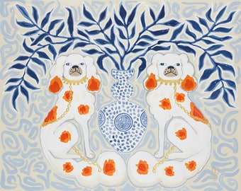 Staffordshire Dogs Chinoiserie by Paige Gemmel