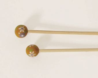 Handcrafted 3.5 bamboo knitting needles