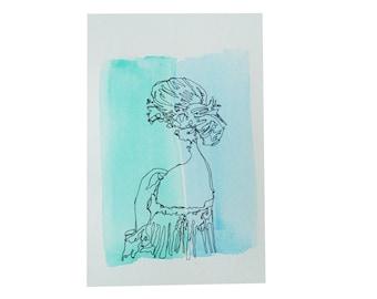 Watercolor Girl #1