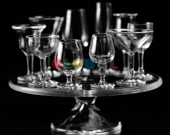 Dollhouse Miniatures Collection of Wine Glass and Stand