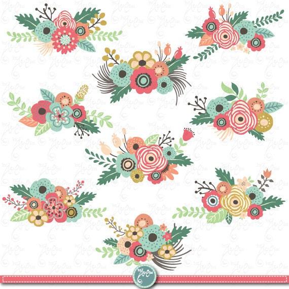 Flowers Clipart Pack Quot Flower Clip Art Quot Pack Vintage