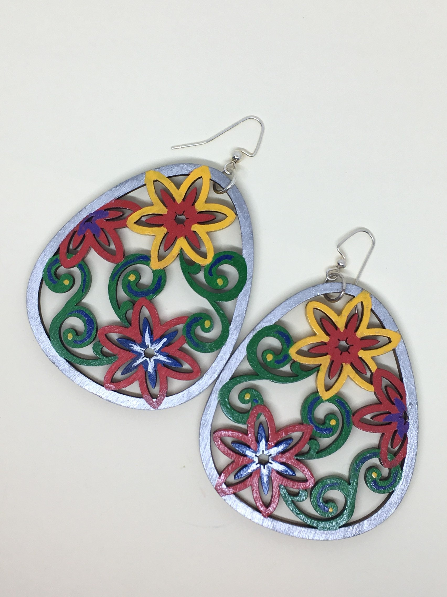 gallery earrings faces beklina jewelry italian hand painted ceramic lyst