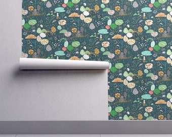 Ambrosia Orchard Wallpaper - Ambrosia Orchard By Nouveau Bohemian - Custom Printed Removable Self Adhesive Wallpaper Roll by Spoonflower