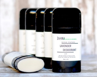 Lavender Deodorant 2.60 OZ; Natural Aluminum Free Deoderent Stick; Floral Scent Women's Deodorant; Shea Butter & Clay Deoderant; Natural Deo