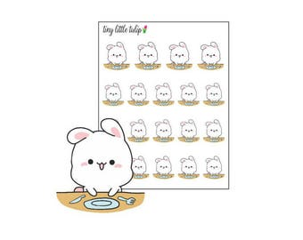 Planner Stickers Bunny Mealtime
