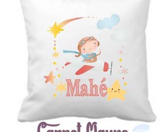 Cushion baby - baby gift - personalized pillow - pattern Aviator / birthday gift
