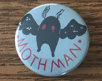 Mothman Cryptid Button