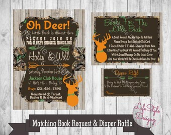 Camo baby shower etsy camo baby shower invitation oh deer baby buck on the way baby boy filmwisefo Gallery