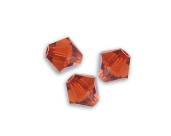 7 bicone 6 mm indian red Swarovski Crystal bead