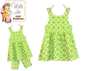 Toddler Dress Sewing Pattern. Girls Sewing Pattern, Knit Dress Pattern. Girls Top Pattern. Toddler Top. Jumper Pattern. PDF Download, Rosie