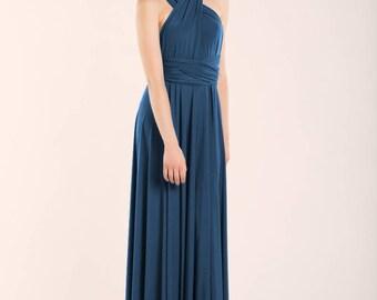 Snorkel blue bridesmaid dress, aegean blue dress, long snorkel blue dress, aegean blue long dress, aegean blue bridesmaid dress, dark blue