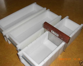 Soap mold. 3-4 Lb No Liner SOAP Molds & Bar Slicer Wooden Lid AvaiL. E