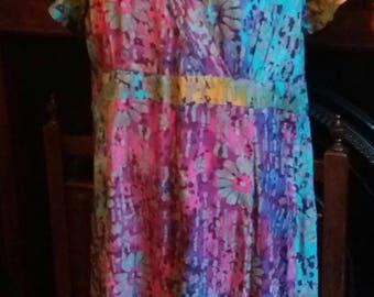 vintage water colour tea dress