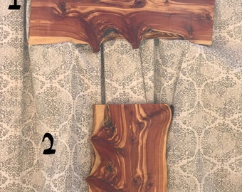 Live Edge Eastern Cedar Slab, Cedar Slice, Natural Edge, Natural Decorative Cedar Slab, Cedar Plank, Shelf Slab, Coffee Table/End Table Slab