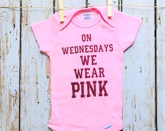 Onesie - On Wednesdays We Wear Pink -  Baby Girl - 0-3 Months - Baby Shower Gift