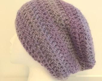Mauve Slouchy Mauve Slouchy Hat Mauve Winter Hat
