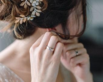 Bridal Headpiece, Gold Leaf Headpiece, Leaf Branch headpiece, Flower Headpiece, Geacian Hairpiece, Wedding Hairpiece, Hair Jewelry- MELYNA