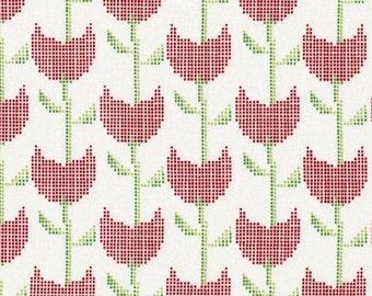 SALE Fragments - Tulip in Red - Dear Stella (STELLA-403-RED)