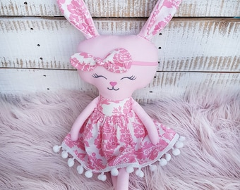 Handmade Bunny Softie, Rag Doll, Soft Toy, Gift, Cloth Doll, Softie, Kids Toy