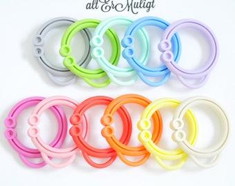 Loopy Link Baby Teething Open Ring  - EN71 approved BPA Free and FDA certified
