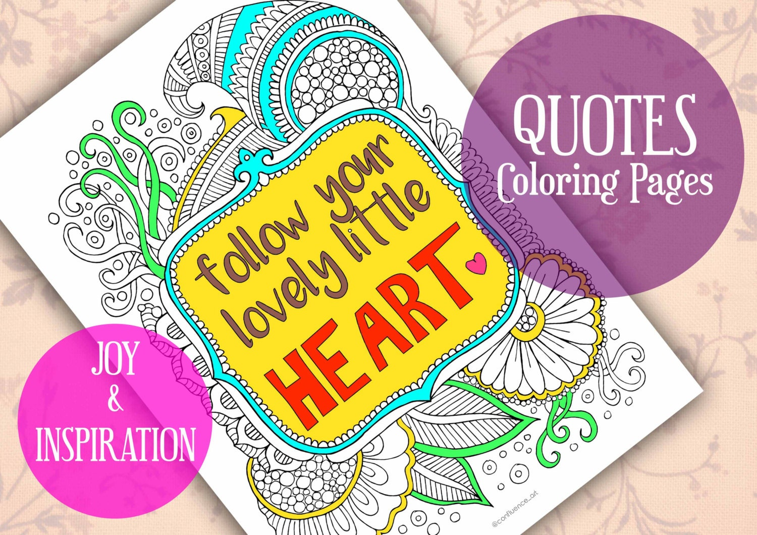 Follow Your Heart Quote Coloring Pages Adult Coloring Pages