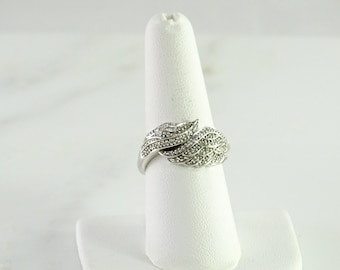 Pave' Sterling Statement Ring Size 8