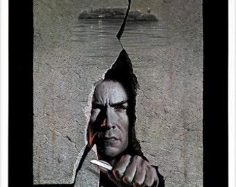 Escape From Alcatraz Clint Eastwood Movie Poster Prison Outbreak Saga 24x36