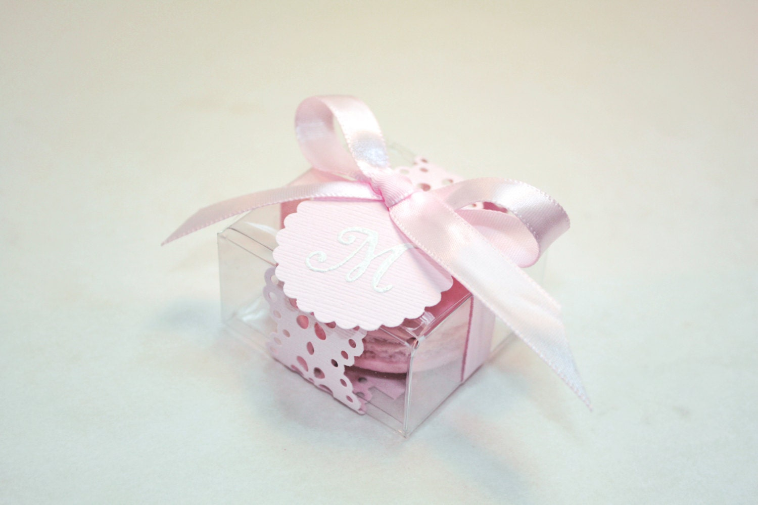 Pink Macaron Favor box Wedding Favor Boxes 30 Favor Boxes