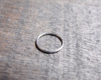 Catchless Hoop Sterling Silver