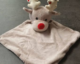 Reindeer Baby Huggy Snuggly Square