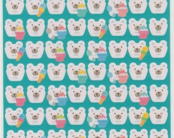 Polar Bear Stickers - Kawaii Japanese Stickers - Reference C1768-69