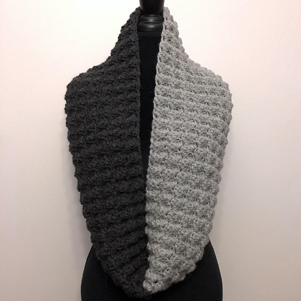Infinity Scarf Crochet Pattern. Two Tone Infinity Crochet Pattern ...
