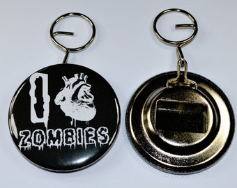 I love zombies bottle opener keyring. Gift idea, horror gifts, horror bottle opener