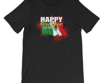 New Years Eve Shirt-New Years-2018-New Year 2018-New Years Eve- New Year Gift-New Years Gift-New Years Shirt-Mexico Flag-Mexico-T-Shirt