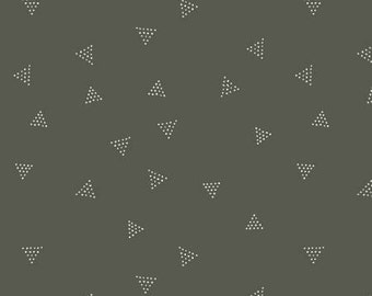 Charcoal Dotted Triangles Cotton/Lycra Knit by Dear Stella