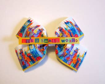 Small World #1 Hair Bow | Disney inspired bow | Disneybound Cosplay accessory | Mary Blair