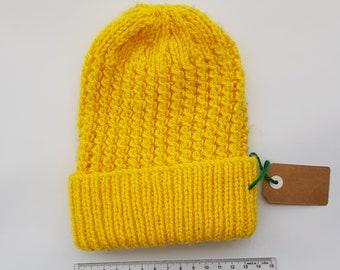 Hand knitted kids beanie