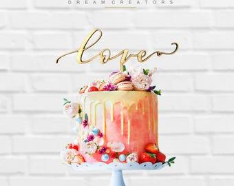 Cake Topper Love Wedding