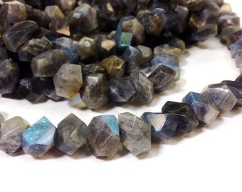Full strand 12 to 18 MM Natural Labradorite Stone - Irregular Large Nugget Faceted Beads (MJ2006R100-BH)
