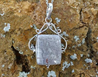 Sale~ Crazy Lace Agate silver filigree necklace ~ Positive Energy ~ Laughter.