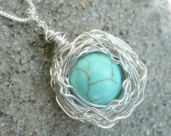 Bird's Nest Necklace Sterling Silver
