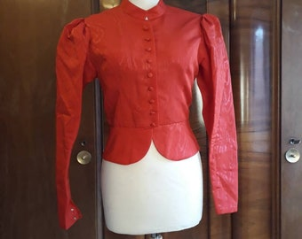 1950s blazer jacket red
