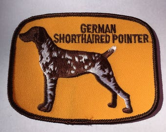 GERMAN Shorthaired POINTER Dog Breed PATCH Detailed Stitching L@@K Vintage Item Rare Unique