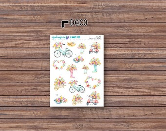 Tulips Deco Stickers | ECLP | Happy Planner | Recollections Planner