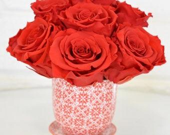 Red Diamond Liberte Preserved Rose Arrangement